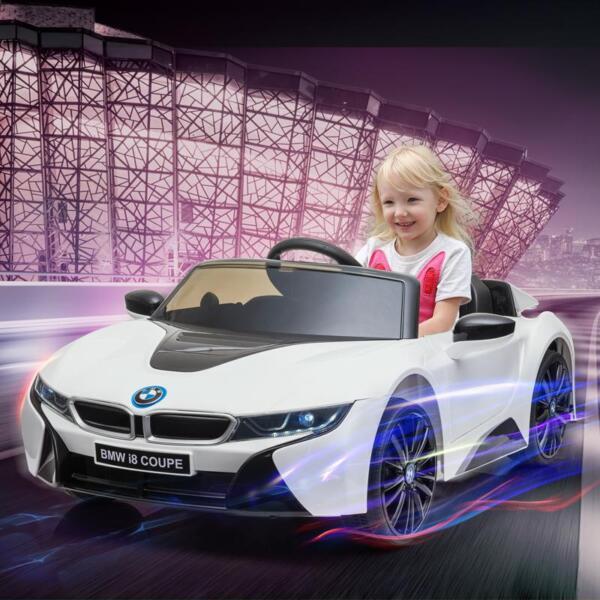 BMW Licensed i8 12V Kids Ride on Car, White bmw licensed i8 12v kids ride on car white 15
