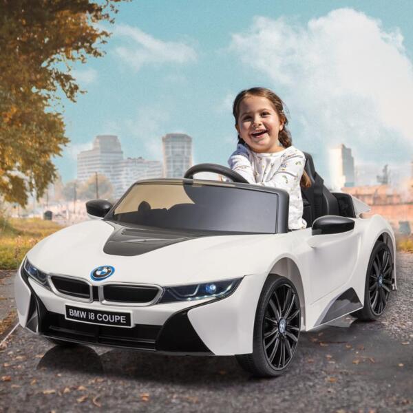 BMW Licensed i8 12V Kids Ride on Car, White bmw licensed i8 12v kids ride on car white 16