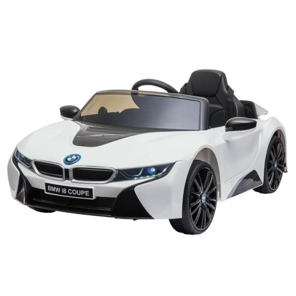 BMW Licensed i8 12V Kids Ride on Car, White bmw licensed i8 12v kids ride on car white 2