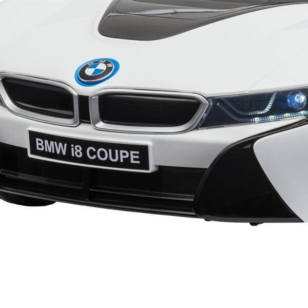 BMW Licensed i8 12V Kids Ride on Car, White bmw licensed i8 12v kids ride on car white 21 1 1