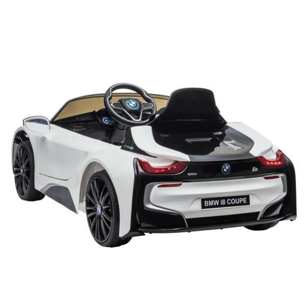 BMW Licensed i8 12V Kids Ride on Car, White bmw licensed i8 12v kids ride on car white 8