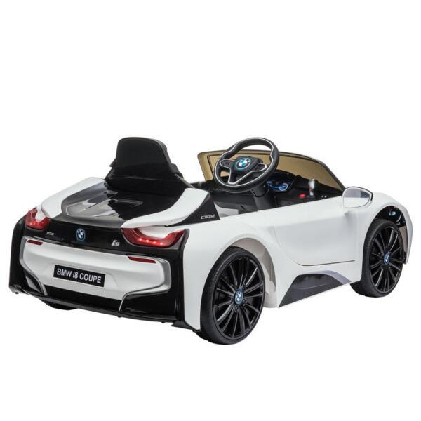 BMW Licensed i8 12V Kids Ride on Car, White bmw licensed i8 12v kids ride on car white 9