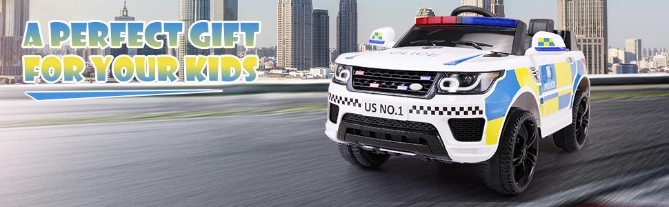 12V Kid Ride on Police Car, White cd7fdcea b476 4ed6 83ff 2ee7bb2b1e40. CR00970300 PT0 SX970 V1