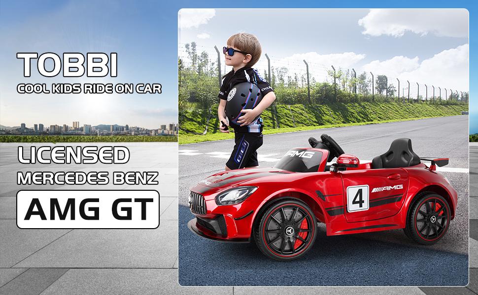 12V Electric Licensed Mercedes Benz AMG GT Kid Ride on Car, Red ce20e52b 3119 4fb7 8dfd e27f531252a7. CR00970600 PT0 SX970 V1