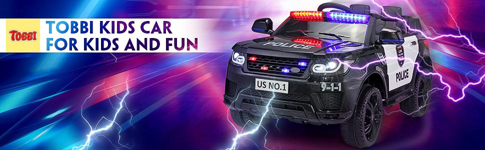 12V Kids Ride On Police Car, Black ce747bb5 ca58 48b8 b2ee 88a2e3c1c256. CR00970300 PT0 SX970 V1