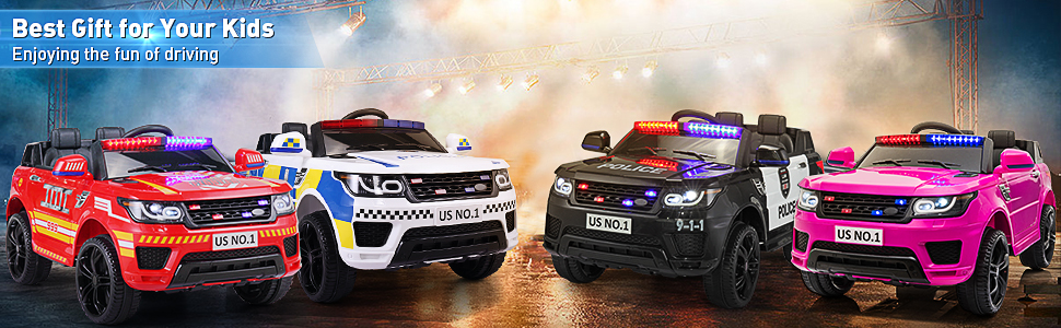 12V Kid's Electric Police Car Ride on, Red d180b749 2500 4d2c a918 68a30951deb1. CR00970300 PT0 SX970 V1 3