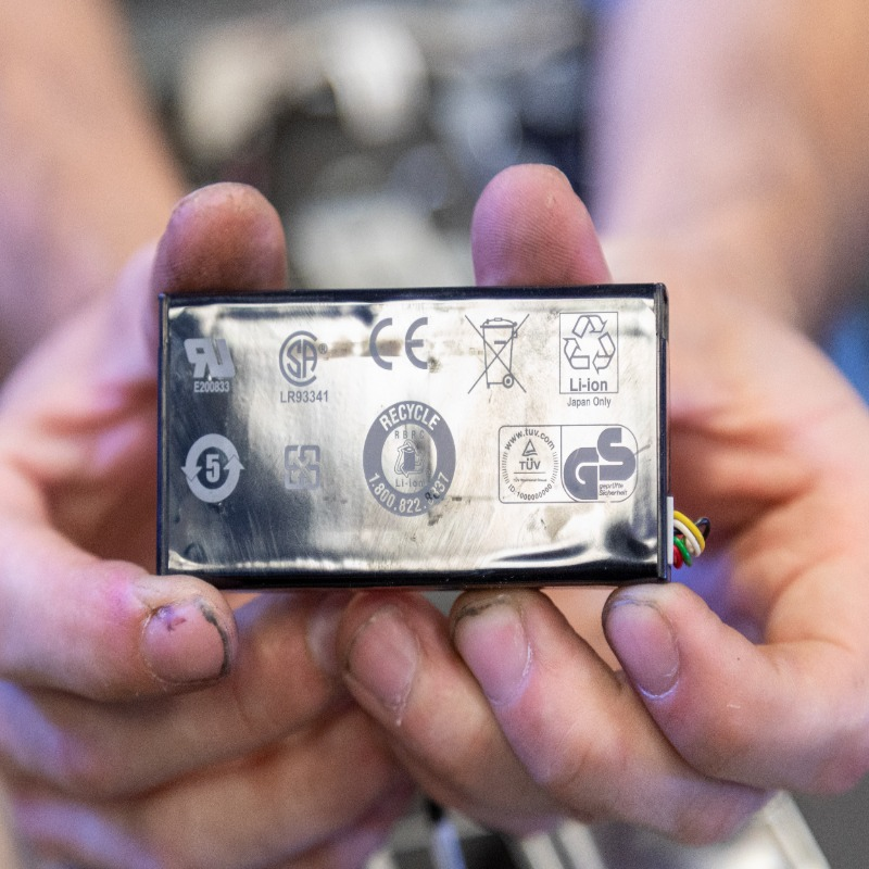 usefully recycle electric ride on car battery