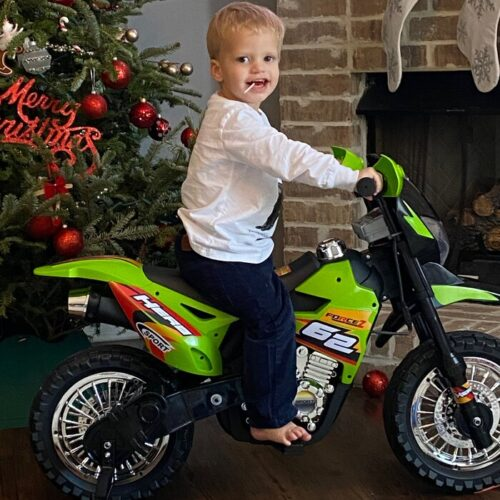 Green 6V Electric Kids Dirt Bike Motorcycle photo review