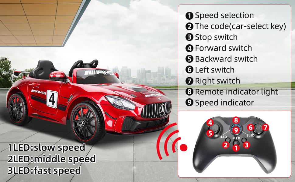 12V Electric Licensed Mercedes Benz AMG GT Kid Ride on Car, Red df2c2e4a 1f63 4999 968b c991d109f0aa. CR00970600 PT0 SX970 V1