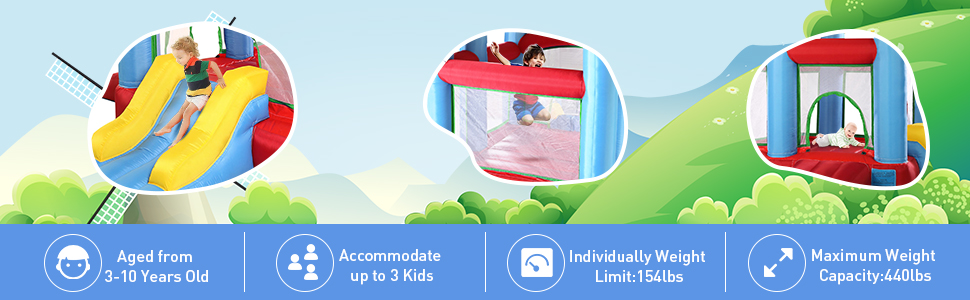 Inflatable Bounce House Jumping Castle with Slide df9b1a70 4a93 44a3 a55b 48cf10deb19e. CR00970300 PT0 SX970 V1