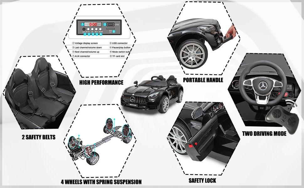 Mercedes Benz Licensed 12V Kids Electric Ride On Car with 2 Seater, Black e1ec1445 c8f6 4041 ade7 0e03571b8579. CR00970600 PT0 SX970 V1