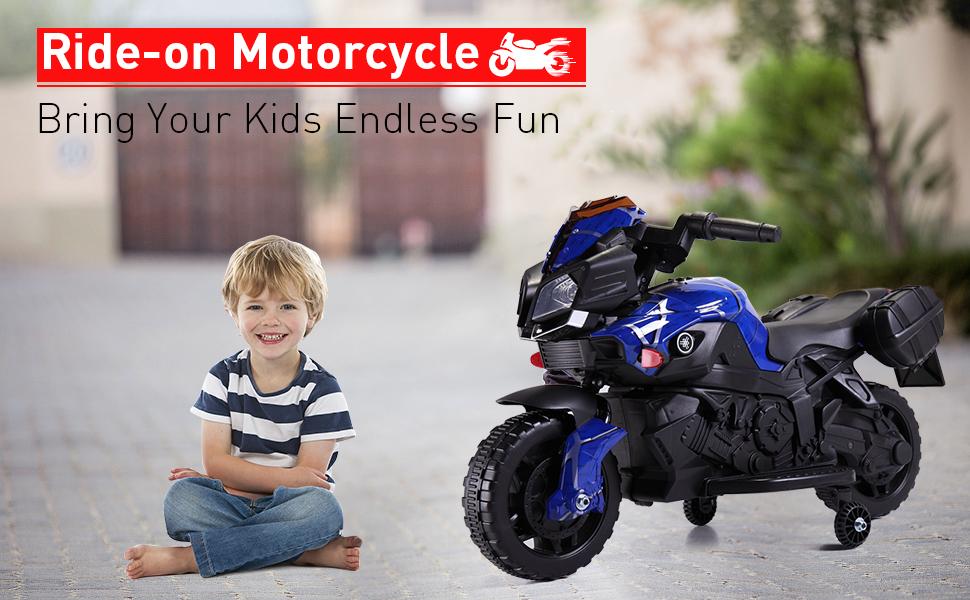 6V Navy Kids Ride On Motorcycle W/ Music e4868ed5 fca3 4e05 81b5