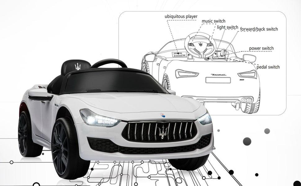 Maserati Kids Car 12V Ride On With Remote, White e987849f d591 4738 8b83 58066151043f. CR00970600 PT0 SX970 V1