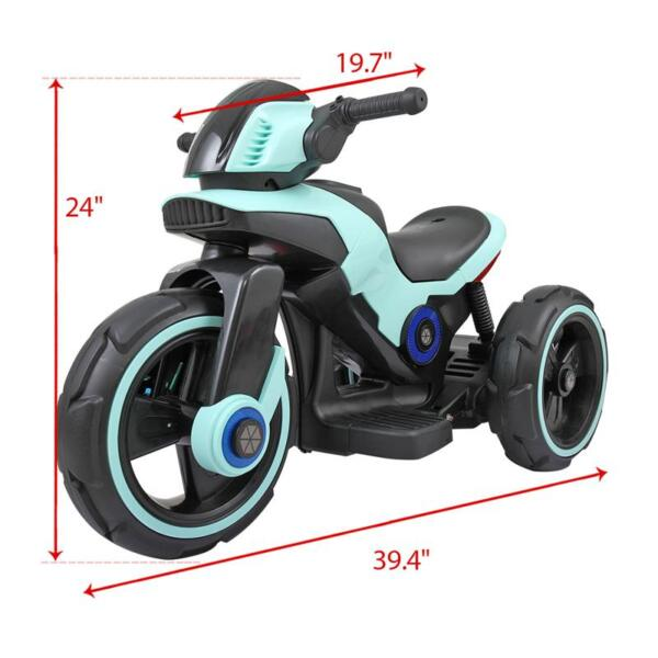 Electric Motorcycle Tricycle Battery Operated, Blue electric motorcycle tricycle battery operated blue 19