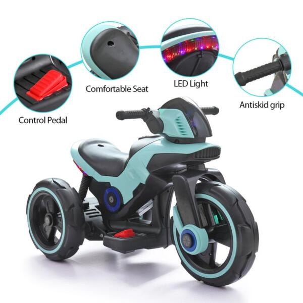 Electric Motorcycle Tricycle Battery Operated, Blue electric motorcycle tricycle battery operated blue 21
