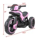 Electric Motorcycle Tricycle Battery Operated electric motorcycle tricycle battery operated pink 12