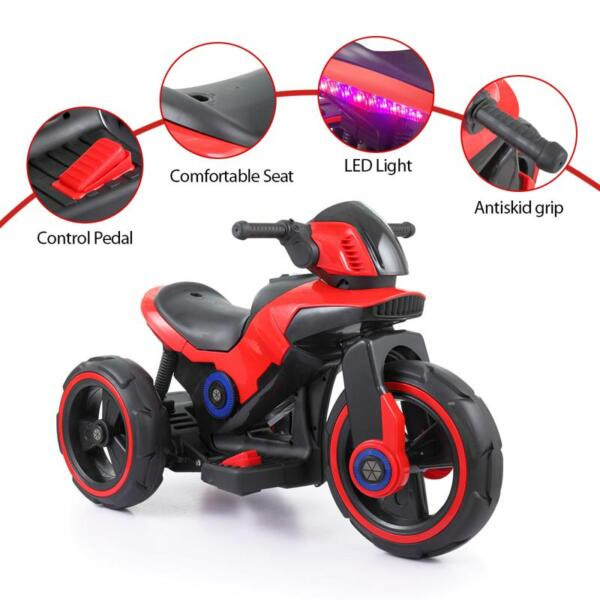 6V Electric Motorcycle Tricycle W/ 3 Wheel electric motorcycle tricycle battery operated red 11