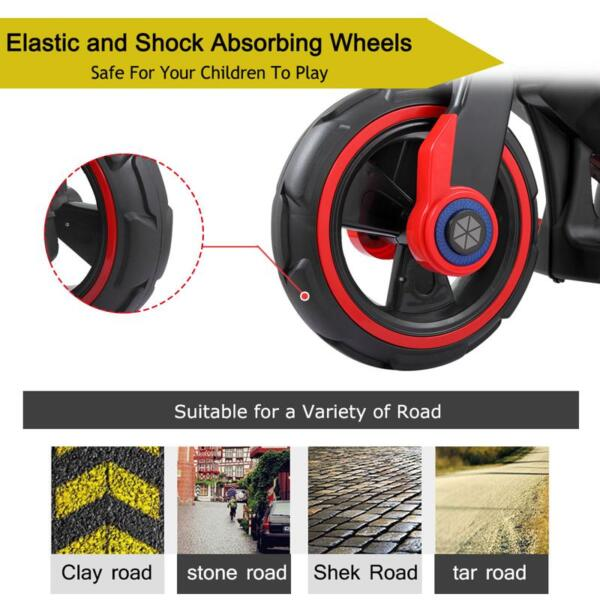 6V Electric Motorcycle Tricycle W/ 3 Wheel electric motorcycle tricycle battery operated red 12
