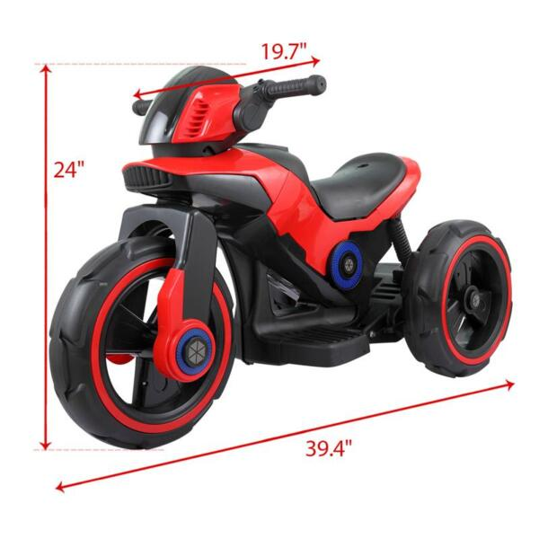 6V Electric Motorcycle Tricycle W/ 3 Wheel electric motorcycle tricycle battery operated red 9