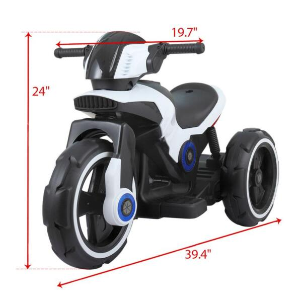 White Electric Motorcycle Tricycle for Toddlers electric motorcycle tricycle battery operated white 11
