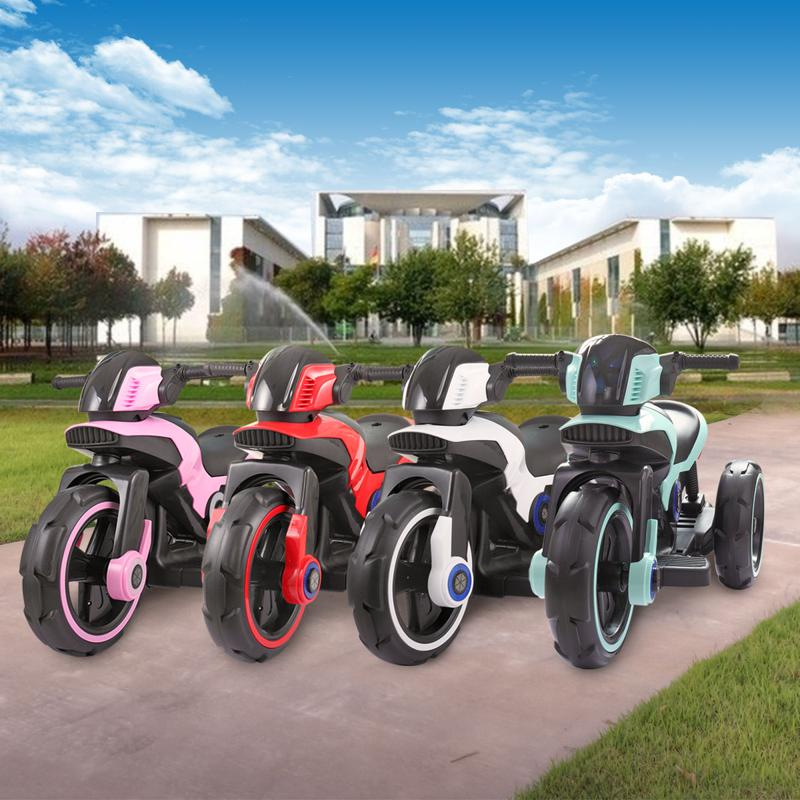 White Electric Motorcycle Tricycle for Toddlers electric motorcycle tricycle battery operated white 21
