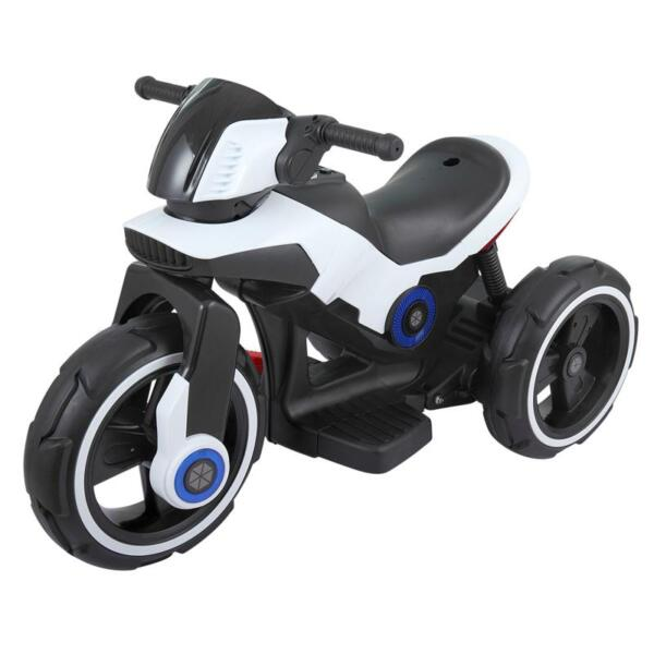 White Electric Motorcycle Tricycle for Toddlers electric motorcycle tricycle battery operated white 3