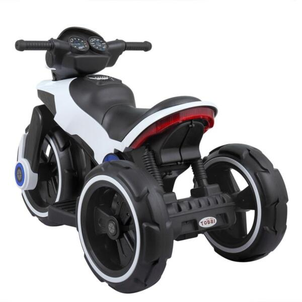 White Electric Motorcycle Tricycle for Toddlers electric motorcycle tricycle battery operated white 9