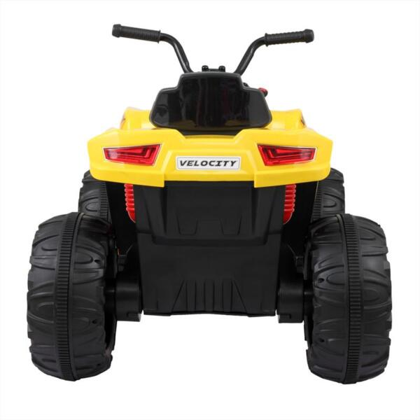 Electric Ride On ATV with 4 Wheel, Yellow electric ride on atv with 4 wheel white 0 副本