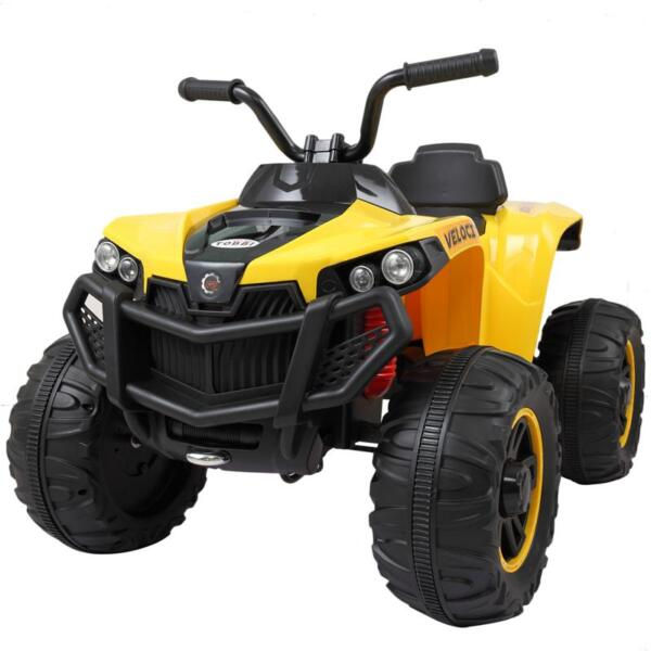 Electric Ride On ATV with 4 Wheel, Yellow electric ride on atv with 4 wheel white 18 副本