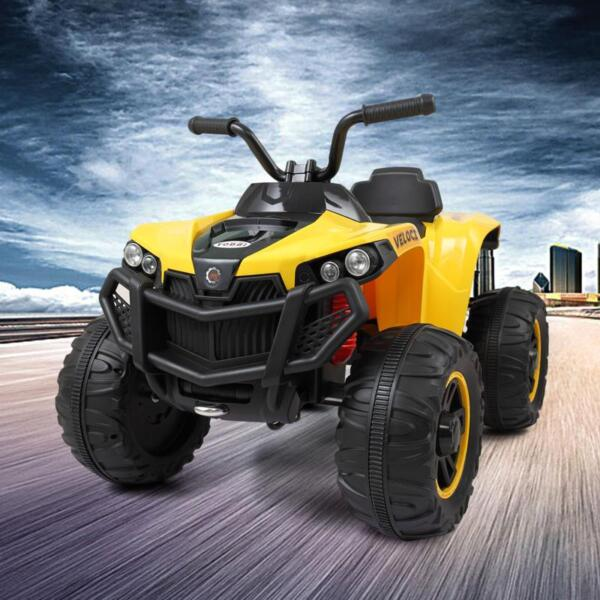 Electric Ride On ATV with 4 Wheel, Yellow electric ride on atv with 4 wheel white 2 1