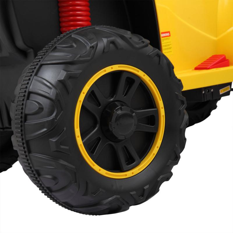 Battery Powered Ride On Kids ATV With Remote, Yellow electric ride on atv with 4 wheel white 22