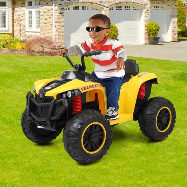 Electric Ride On ATV with 4 Wheel, Yellow electric ride on atv with 4 wheel white 5 1