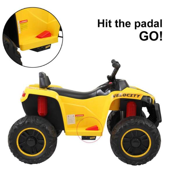 Electric Ride On ATV with 4 Wheel, Yellow electric ride on atv with 4 wheel white 7 1