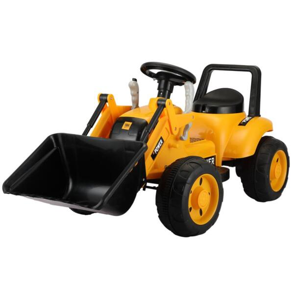 6V Kids Electric Tractor Car with Horn for Kids 3-8 years, Yellow excavator ride tractor for kids pink 1