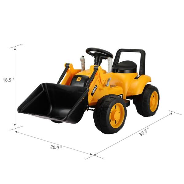 6V Kids Electric Tractor Car with Horn for Kids 3-8 years, Yellow excavator ride tractor for kids pink 11 1