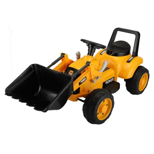 6V Kids Electric Tractor Car with Horn for Kids 3-8 years, Yellow excavator ride tractor for kids pink 5