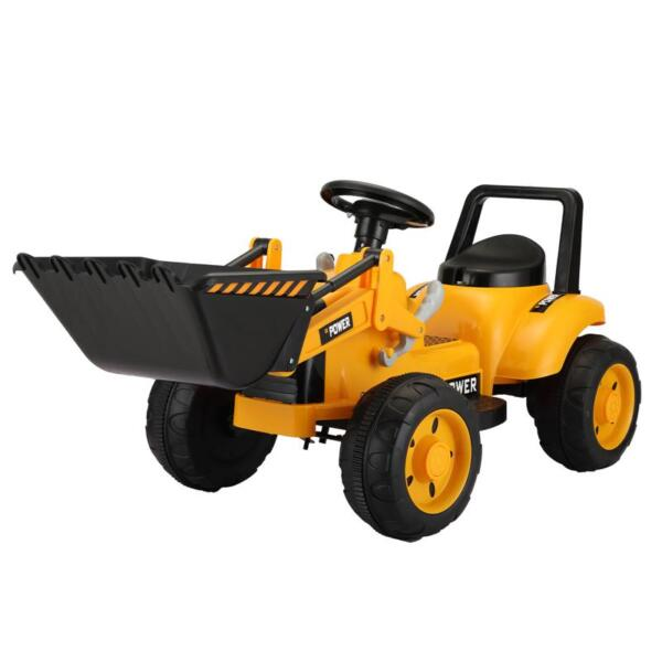 6V Kids Electric Tractor Car with Horn for Kids 3-8 years, Yellow excavator ride tractor for kids pink 6