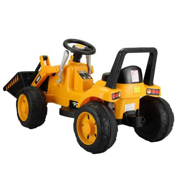6V Kids Electric Tractor Car with Horn for Kids 3-8 years, Yellow excavator ride tractor for kids pink 7