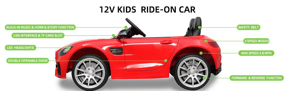 Mercedes Benz Licensed 12V Kids Electric Ride On with 2 Seater, Red fab70453 f878 4c02 bccd c76808d9e32f. CR00970300 PT0 SX970 V1