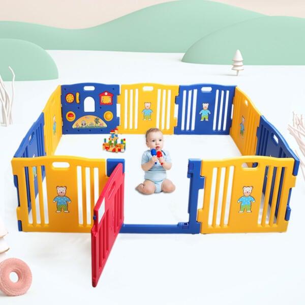 Toddlers Playpen 8 Panel Play Yard with Door h17k0325th17n0310 18 2