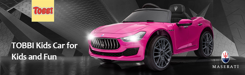 12V Maserati Licensed Kids Ride On Car with Remote Control, Pink ia 100000038