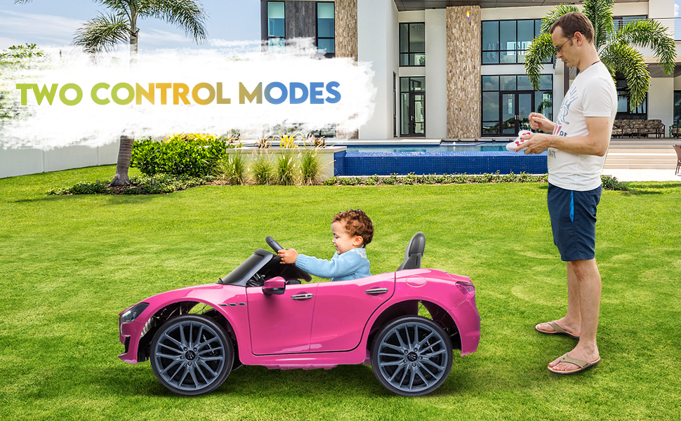 12V Maserati Licensed Kids Ride On Car with Remote Control, Pink ia 100000046
