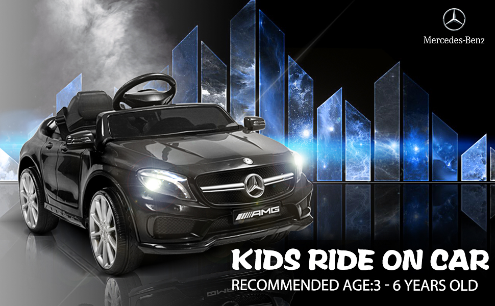 Mercedes Benz Licensed Electric Kids Ride on Cars Remote Control, Black ia 1200000035