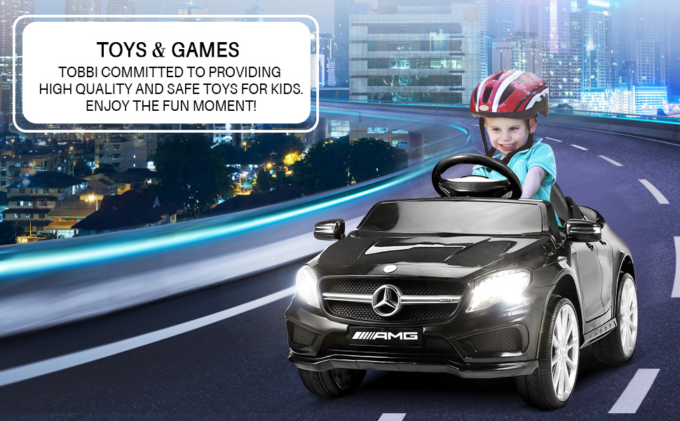 Mercedes Benz Licensed Electric Kids Ride on Cars Remote Control, Black ia 1200000040
