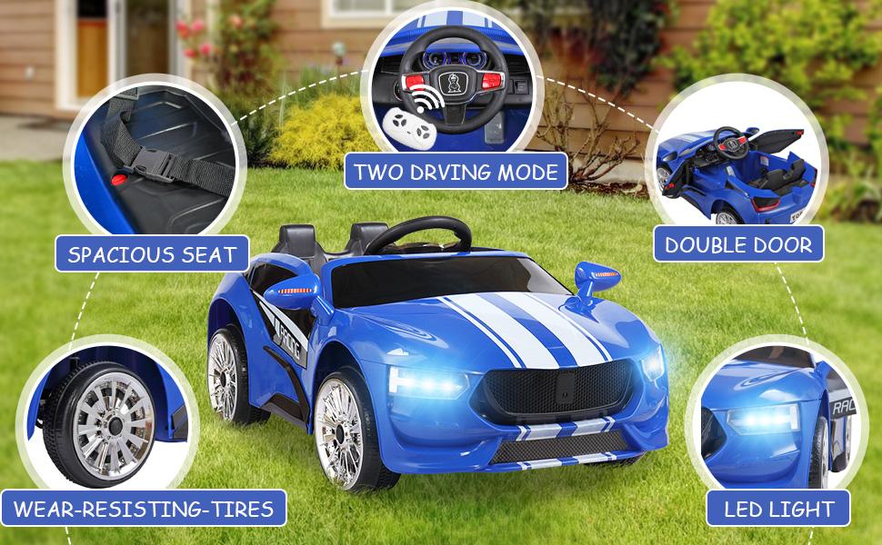 6V Kids Electric car 2 Seater w/ Remote Control ia 200000038