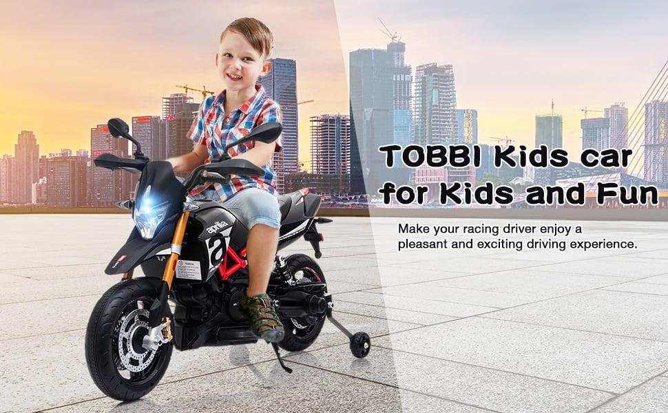 Aprilia Licensed 12V Kids Toy Motorcycle, Black ia 4600000039