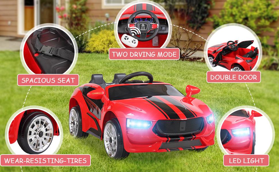 6V Kids Ride On Racing Car, Red ia 5700000039