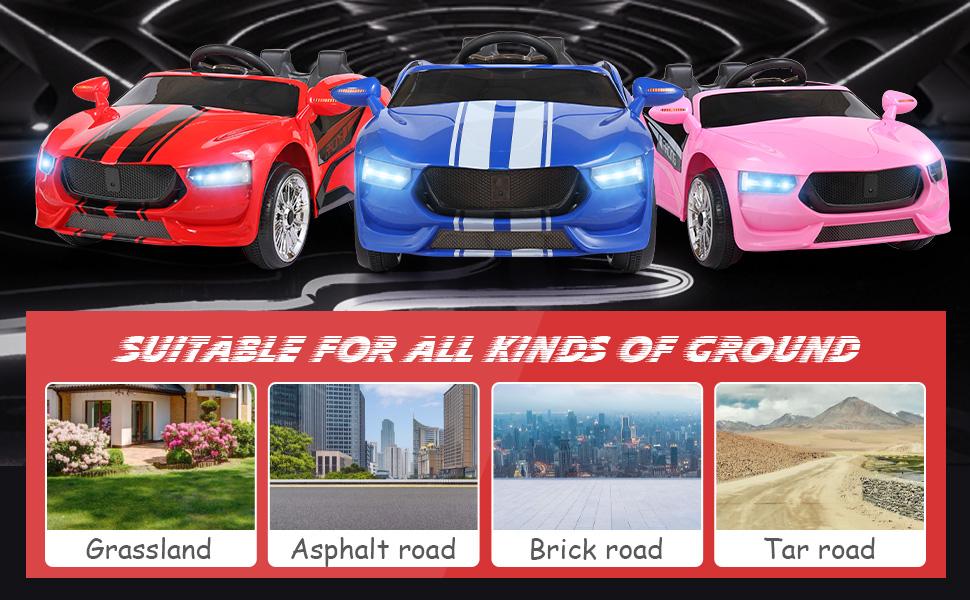 6V Kids Ride On Racing Car, Red ia 5700000040
