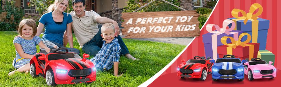 6V Kids Ride On Racing Car, Red ia 5700000042