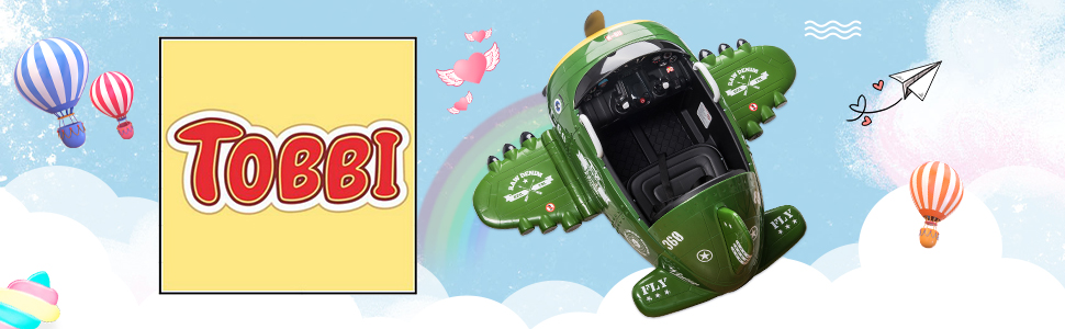 12V Kids Electric Toy Plane Car, Army Green ia 900000035